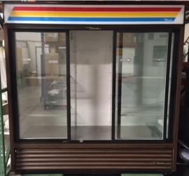 True Triple Sliding Glass Door Refrigerator